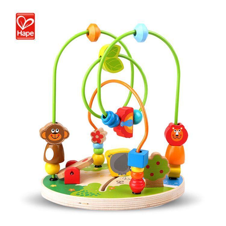 hape 森林游乐园绕珠1-3-6岁宝宝益智婴儿智力大号串珠儿童玩具