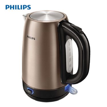 飞利浦(PHILIPS)电水壶304不锈钢PTC保温1.7升HD9332/21 宝马棕