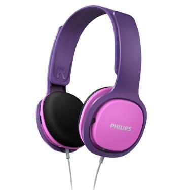 飞利浦SHK2000PK儿童耳机头戴式双耳儿童礼品立体声