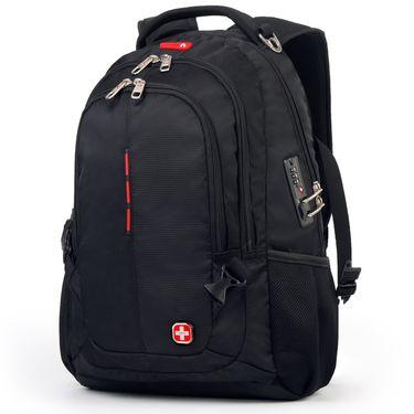 CROSSGEAR 瑞士军刀 时尚商务双肩包 安全密码锁电脑包 户外旅行背包 CR-9001
