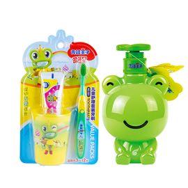 青蛙王子 儿童清爽组合 宝宝牙刷洗手液双效护齿倍润儿童护肤洗手液