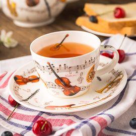DUNOON 乐器系列 骨瓷茶杯 咖啡杯 250ml 礼盒装 英国进口