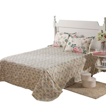 洁帛 纯棉斜纹印花床单 230x250cm 纯棉床单