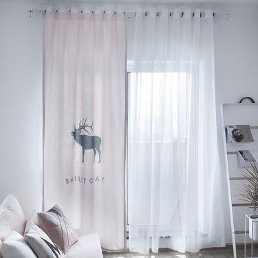 范居态度 ins现代简约定制窗帘遮光布卧室北欧客厅免打孔飘窗阳台窗帘成品 大欧洲风 E款