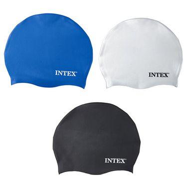 INTEX 防水游泳帽硅胶泳帽纯色泳帽随机发货