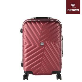 CROWN/皇冠 铝框箱C-F5123八轮万向轮 行李箱 旅行箱 铝框硬箱 登机箱20英寸樱桃红