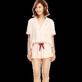 网易严选 绽放·女式纯色短袖家居服