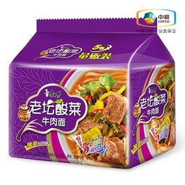 康师傅 酸菜牛肉面(5连包 114g*5) 袋装 速食方便面