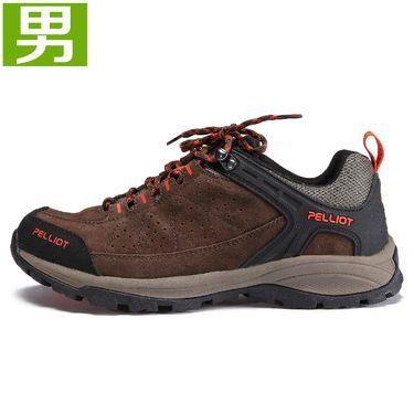 伯希和 PELLIOT登山鞋 男女秋冬防滑减震户外鞋透气耐磨低帮徒步鞋