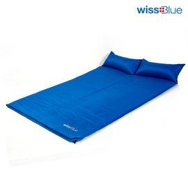 维仕蓝 wissBlue WA8040-B 超大超轻 带枕双人自动充气垫