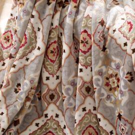 LOVO 罗莱家纺加州风情毯拉舍尔毛毯加厚双层单人双人春秋冬季盖毯珊瑚绒毯子被子