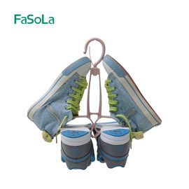 FASOLA晾鞋架挂钩阳台靴子鞋子晾晒架家用创意双钩防风晒鞋架