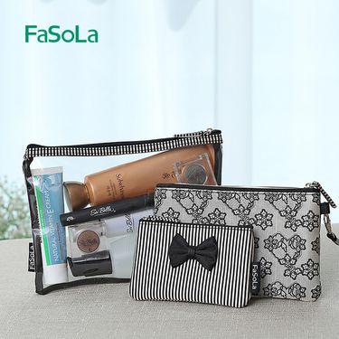 FASOLA便携化妆包大容量手拿旅行随身洗漱品