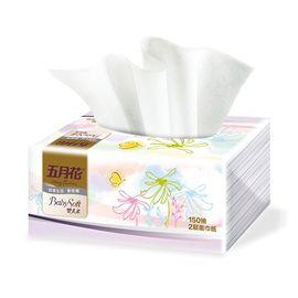 五月花 婴儿柔抽纸 纸巾 餐巾纸150抽*5包共计750抽