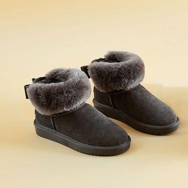 丽芙 家居  羊毛牛皮雪地靴