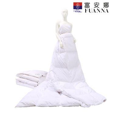 富安娜 雅致暖馨羽绒被 填充优选白鸭绒203*229