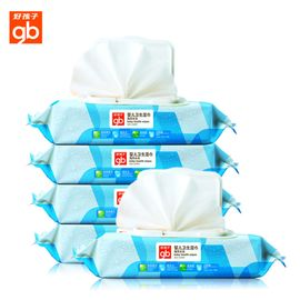 好孩子 湿巾海洋水润新生湿纸巾带盖宝宝湿巾柔巾80片24包