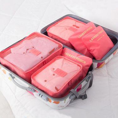 途帮 旅行收纳袋行李箱衣物衣服旅游鞋子内衣收纳包整理袋套装(颜色随机)