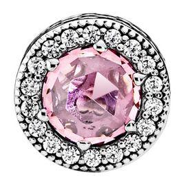 PANDORA 潘多拉 ESSENCE系列清新粉红色锆石串珠796082PCZ