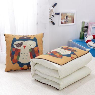 馨乐屋 可爱抱枕被子两用 抱枕被 50*50展开150*195cm 15款颜色可选随机