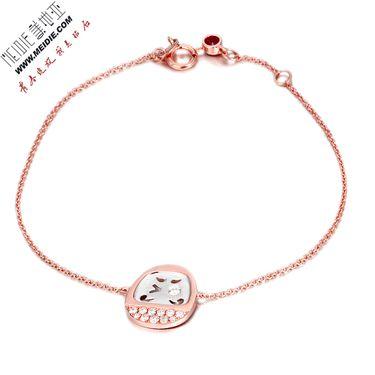 Meidie 美地亚 珠宝玫瑰18K金钻石手链——不倒翁系列BDWB002