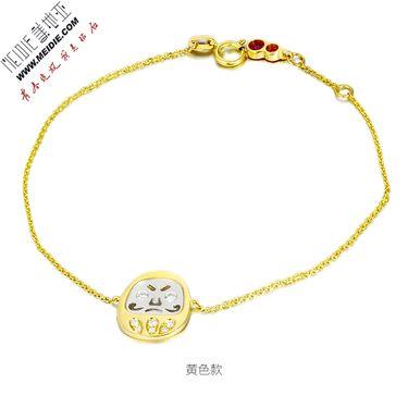 Meidie 美地亚 珠宝黄18K金钻石手链——不倒翁系列BDWB001