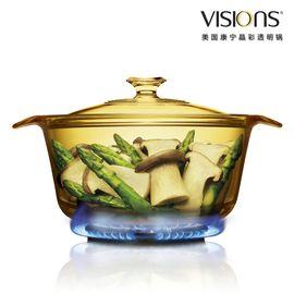 World Kitchen 康宁  1.6公升时尚系列超耐热透明玻璃煮锅VS-16-FL 1.6升(时尚煮锅)