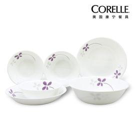 World Kitchen 美国康宁corelle餐具 进口正品紫色幸运草系列  CR-NWP01(六件套)