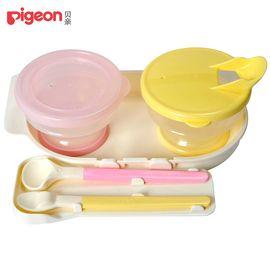 贝亲 Pigeon  亲子喂哺套装 2个碗+2个软头汤匙 DA40
