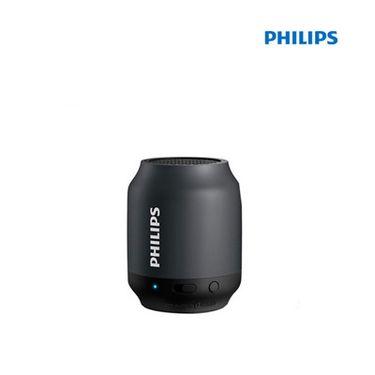 飞利浦 (PHILIPS)BT25B无线蓝牙音箱 便携迷你口袋音箱 兼容苹果/三星手机/电脑小音响 黑色