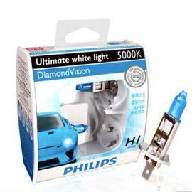 飞利浦 (PHILIPS)汽车升级灯泡/蓝钻之光H1 2支装 色温5000K