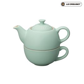 酷彩 Le Creuset 一人茶壶组 薄荷绿