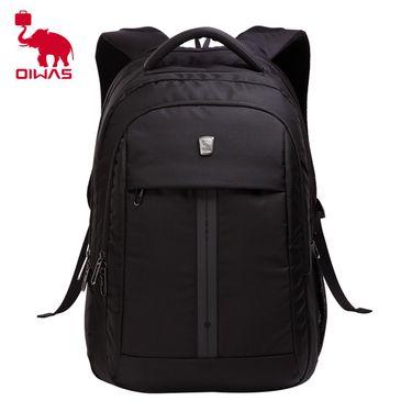 爱华仕(OIWAS)商务笔记本电脑包15英寸 时尚韩版双肩包 男女休闲旅行书包背包 4148黑色
