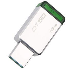金士顿(Kingston)USB3.1 兼容usb3.0、2.0 极速16GB 金属U盘 DT50