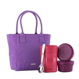 膳魔师 真空不锈钢保温杯 焖烧罐TCLA-470套组含餐盒包袋