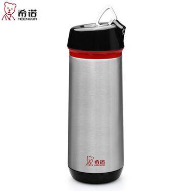 希诺 保温杯带滤网时尚不锈钢泡茶杯带隐形提环创意水杯