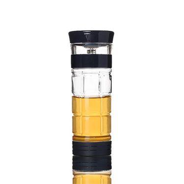 绿珠 PC203 创意茶水分离杯子 可控茶水浓度 便携旅行杯 深蓝色