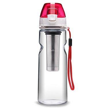 绿珠 lvzhu 550ml情侣便携防漏旅行运动过滤随手塑料水杯PC605 红色