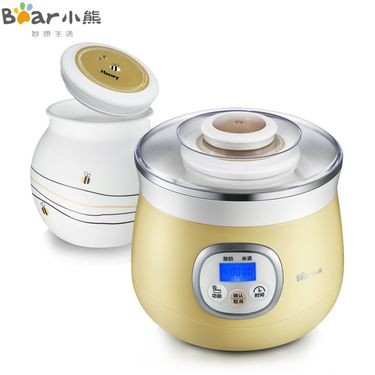 小熊(Bear)SNJ-530 微电脑蜜罐米酒酸奶机 陶瓷内胆 1L