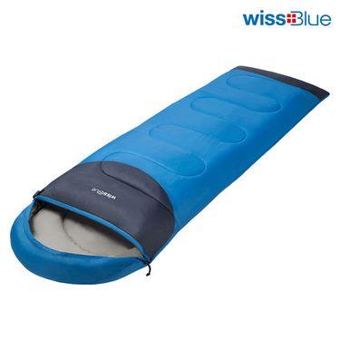 维仕蓝 wissBlue WA8056-B 户外睡袋户外家庭都适用 1.3KG 蓝色