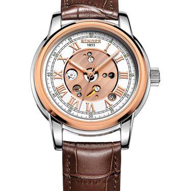 宾格 (BINGER)手表全自动机械表古典男表背透镂空防水大表盘