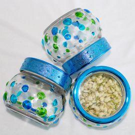 卡佩利丝   手绘圆点食品密封罐(3只装)