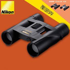 尼康 Nikon 阅野 ACULON A 30 8x25双筒望远镜高倍高清非红外微光夜视可折叠小巧便携儿童成人望眼镜 黑色