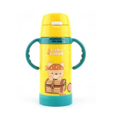 lanpiind 郎品儿童保温杯吸管杯不锈钢宝宝卡通水杯可爱便携带手柄350ml/400ml