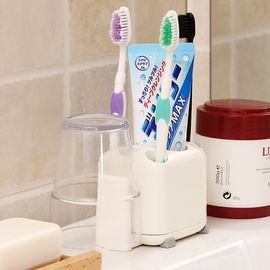 inomata 日本牙刷架洗漱整理牙膏收纳架创意旅行牙具架卫浴杯子置物架