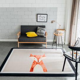 卡佩利丝 狐狸北欧简约地垫儿童爬行垫飘窗垫(多规格可选厚度1.5cm)