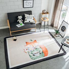 卡佩利丝 狐狸姑娘北欧简约地垫儿童爬行垫飘窗垫(多规格可选厚度1.5cm)