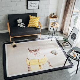 卡佩利丝 小猫北欧简约地垫儿童爬行垫飘窗垫(多规格可选厚度1.5cm)