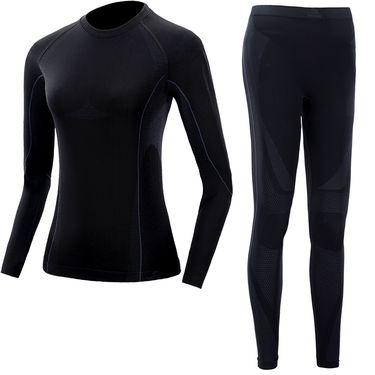 伯希和 PELLIOT户外运动功能内衣 男女冬排汗速干紧身保暖内衣裤套装