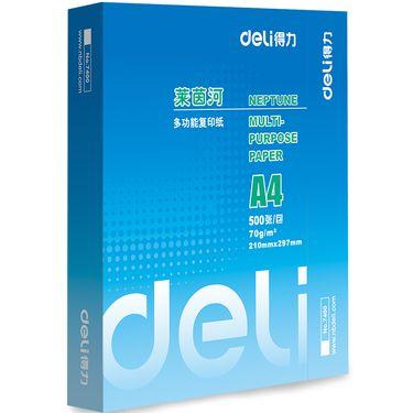 得力(deli)7400 莱茵河复印纸A4 70g 500张/包 单包装